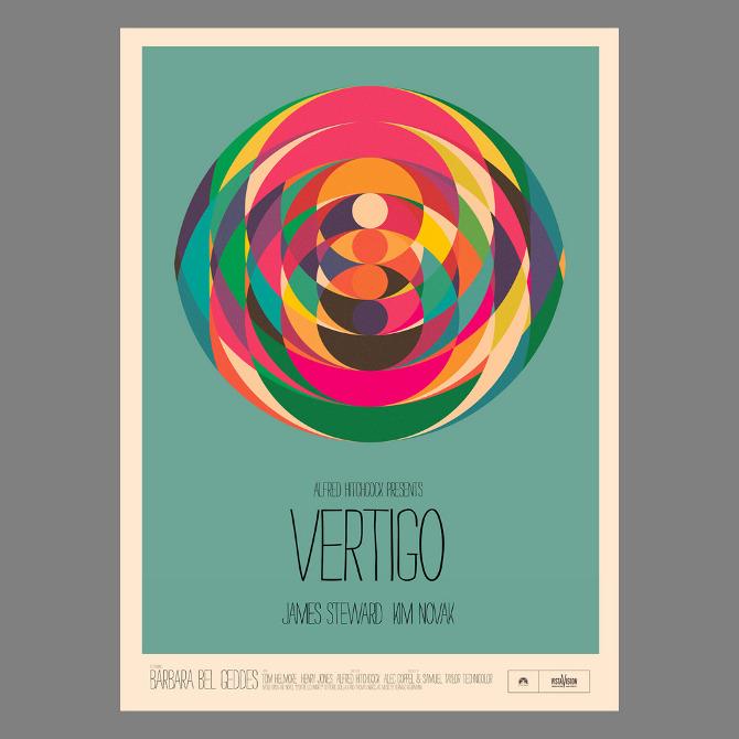 vertigo movie poster minimal wwwpixsharkcom images